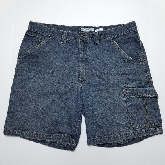 Columbia Blue Denim Shorts - Carpenter/Cargo